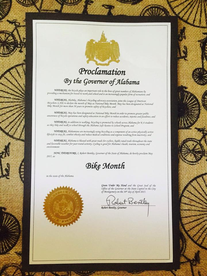 Gov. 2015 Bike Month Proclamation